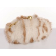 Fisher Clutch with  Detachable Metal Shoulder Strap  &  Light Gold Closure