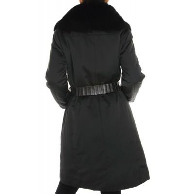 Coat with Detachable Fox Collar & Detachable Rex Rabbit Lining