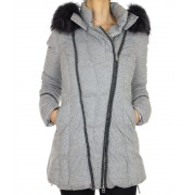 Down Jacket with Detachable Chinese Raccoon on the Hood