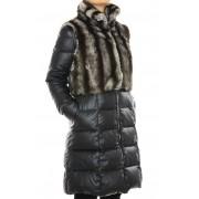Down Coat with Detachable Rex Rabbit Outer Vest