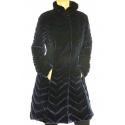 Down Coat With Detachable Sheared Mink On Collar