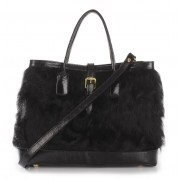 Chekiang Lamb  Fur Tote Bag with Leather