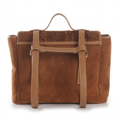 Backpack Man Bag with Leather and Fur  * era ICONS *