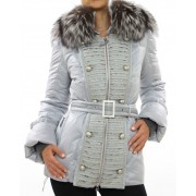 """Down """"Thermotron"""" Jacket with Detachable Silver Fox on the Hood"""