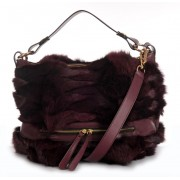 Fox Fur Shoulder Bag with Leather (Helena)
