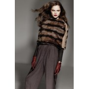 Rex Rabbit Cape with Cashmere - Wool Knitted