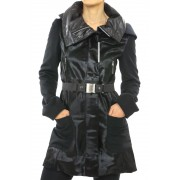 Calf Jacket with Hood Combined with Wool & Cashmere