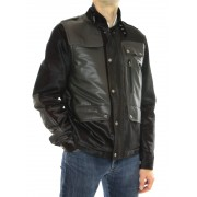 Calf Male Jacket Combined With Skiver Leather