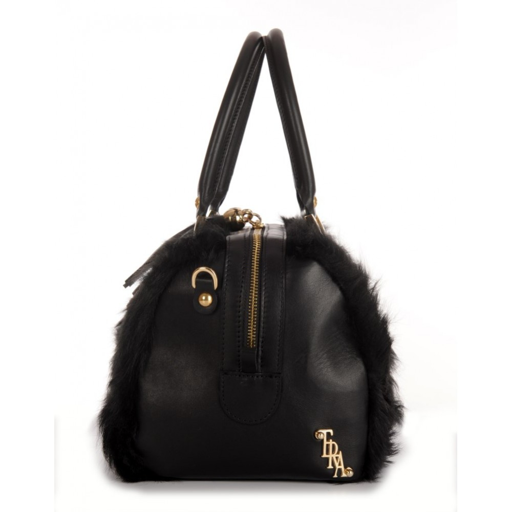 a217d711e0 Chekiang lamb Fur Tote Bag with Leather