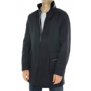 Polyester Coat with Detachable Mink Collar and Detachable Rex Rabbit Full Skin Lining