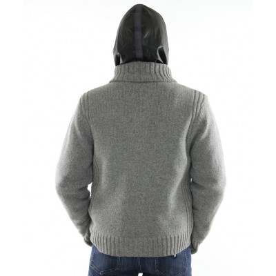 Knitted Male  Wool  Jacket with  Inner Chekiang Lamb Jacket